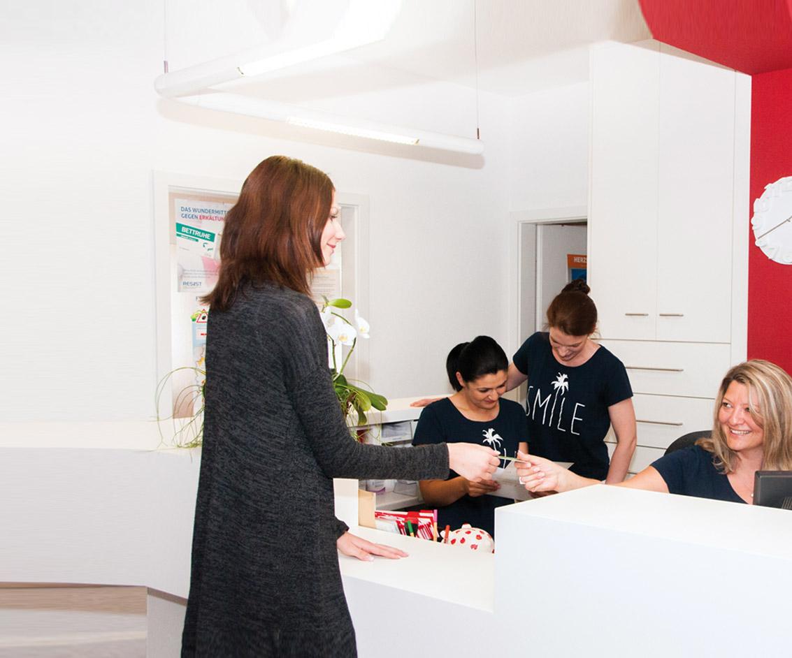 Empfang Hausarztpraxis Wendelstein